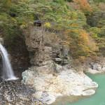 龍王峡に架かる虹見の橋から美しく水が落ちる虹見の滝を眺めてみる『秋の栃木へ 2015』 その4