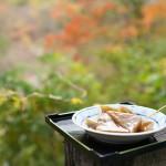 龍王峡のむささび茶屋で紅葉を眺めながら名物の味噌おでんを食べてみた!『秋の栃木へ 2015』 その6