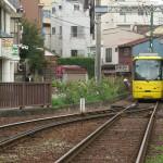 【Tokyo Train Story】三ノ輪橋電停で出発を待つ黄色い都電