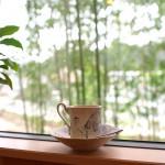 広瀬川と竹林を望むカウンター席でオリジナルブレンドの広瀬川を飲む~珈琲 まめ坊~ 『仙台カフェ巡りの旅』 その4