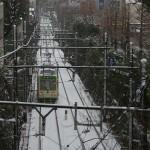 【Tokyo Train Story】雪の日の線路道(都電荒川線)