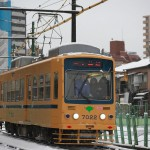 【Tokyo Train Story】東池袋三丁目付近の都電雪景色