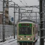 【Tokyo Train Story】雪の雑司が谷の風景(都電荒川線)
