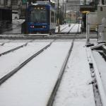 【Tokyo Train Story】都電荒川線新型車両8900形の雪中走行