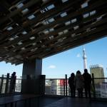 浅草文化観光センターの展望テラスは東京スカイツリーを眺めるお勧めスポット 浅草寺と仲見世通りも見下ろせるよ