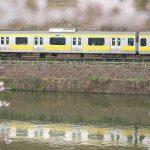 【Tokyo Train Story】水鏡の総武線と桜