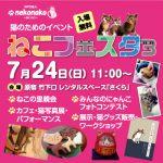 平成28年(2016年)7月24日(日) 原宿のレンタルスペースさくらで猫づくしのイベント「ねこフェスタ3」が開催!とくとみは猫写真展で参加します!
