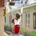 【Tokyo Train Story】小便小僧もリオオリンピックの応援中!(山手線)