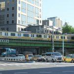 【Tokyo Train Story】水道橋の交差点の上を悠々と走る総武線