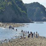 干潮時に海の中に道が現れるトンボロ現象 静岡県西伊豆町堂ヶ島の瀬浜海岸から三四郎島まで歩いて渡ってきた! #地域ブログ