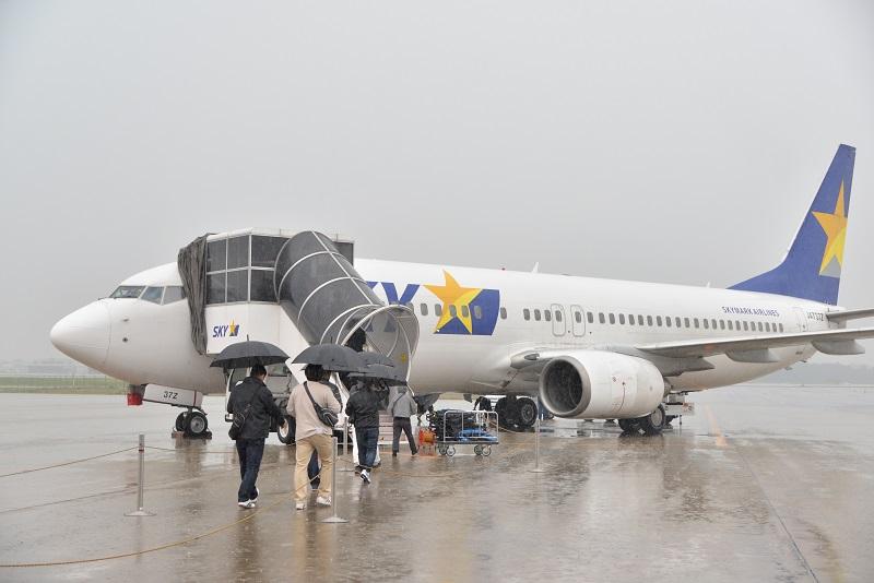 スカイマーク831便で茨城空港から福岡空港へ