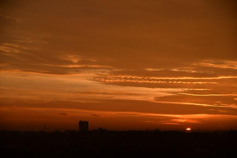 オロモウツの夕焼け空