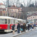 高低差があるプラハの町では路面電車が走るダイナミックな風景が撮影できる! #visitCzech #チェコへ行こう #link_cz #prague #プラハ