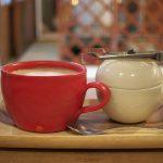 【カフェ】谷中のkokonnの和の空間で真っ赤なカップで飲むカフェオレが美味い! #地域ブログ