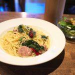 【カフェ】谷中のHAGISO内にあるHAGI CAFEのランチでハーブソーセージとほうれん草のペペロンチーノを食べてみた #地域ブログ