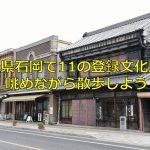 茨城県石岡で11の登録文化財を眺めながら散歩しよう!みごとな看板建築がたくさん残っていますよ