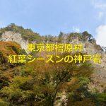 東京都檜原村にある神戸岩は秋の紅葉シーズンに見に行くべし! #tokyoreporter #tamashima #tokyo #hinohara