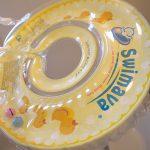 赤ちゃんをお風呂に入れる時にはスイマーバがお勧め!お湯の中で楽しそうに泳ぐ姿が最高にかわいいですよ #育児