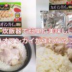 ヤマモリのカオマンガイの素を使えば、炊飯器で簡単に美味しいカオマンガイが作れちゃう!