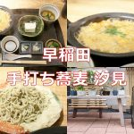 早稲田にある「手打ち蕎麦 汐見」の親子煮御膳が最高に美味しかった