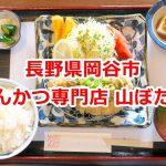 長野県岡谷市にあるとんかつ専門店 山ぼたんで食べた信州ねぎ味噌かつ定食が人生最高のとんかつだった #諏訪の国公式アンバサダー