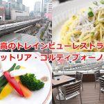 有楽町イトシアの4階にあるトラットリア・コルティブォーノ東京は至高のトレインビューレストラン! #育児