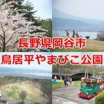 長野県岡谷市にある鳥居平やまびこ公園の標高約1000mからの眺めが最高!多種多様な体験型アクティビティも用意されています #諏訪の国公式アンバサダー