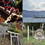 諏訪湖周辺に行く際は諏訪大社だけでなく小さな祠や道祖神の御柱もチェックするべし #諏訪の国公式アンバサダー