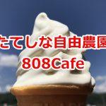 長野県茅野市にあるたてしな自由農園 茅野店内にある808Cafeのソフトクリームが美味しい! #諏訪の国公式アンバサダー